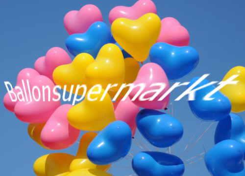 Luftballons-Herzluftballons-Helium
